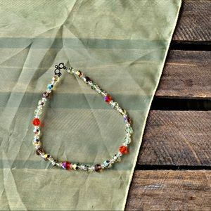 Vintage Iridescent Faceted Choker/Kids Necklace